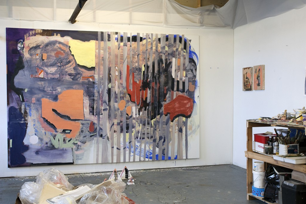 Bartosz Beda, studio view, abstract directions