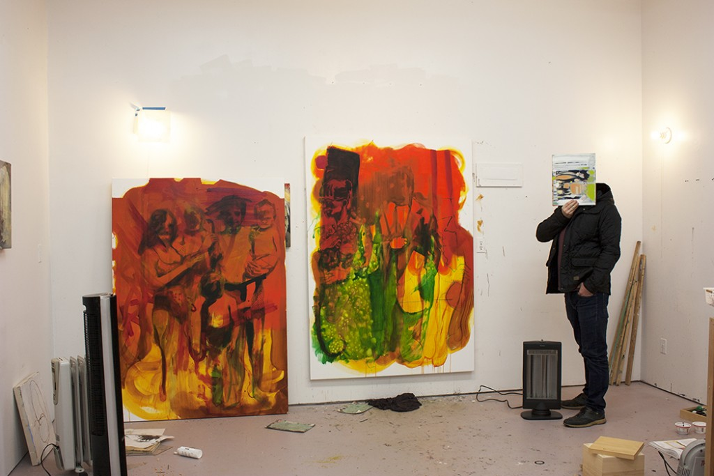 bartosz beda paintings, man of hope, artwork, red