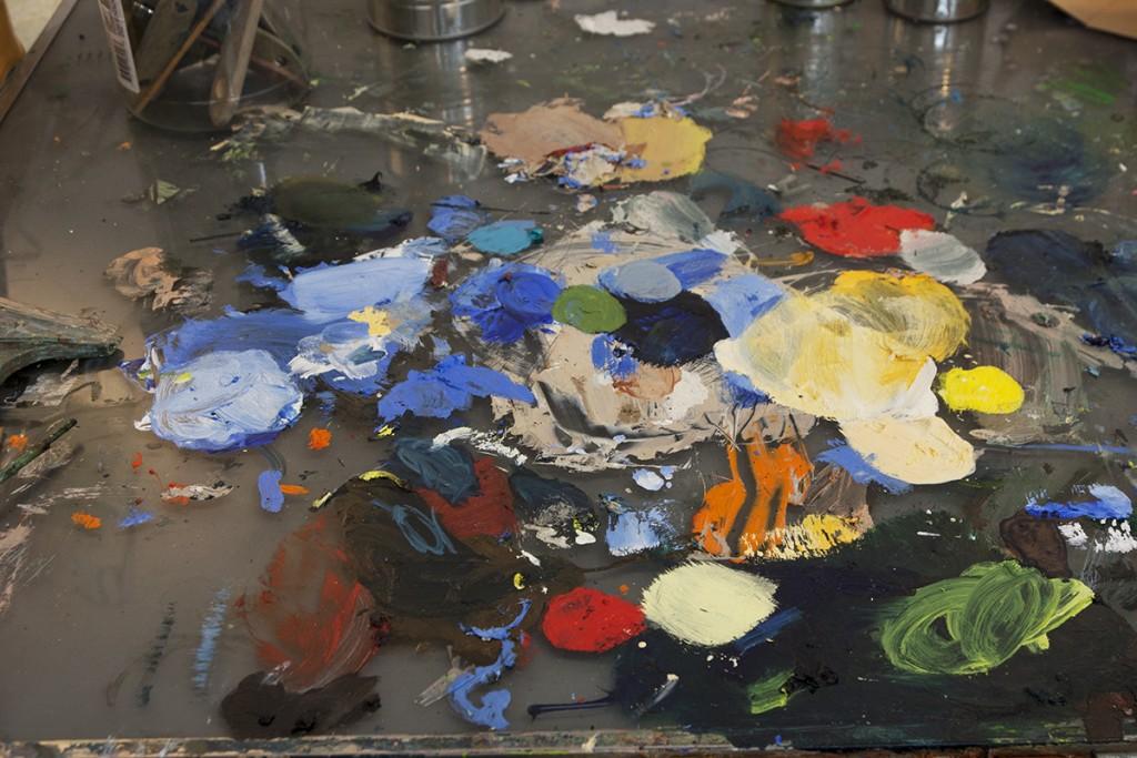 a painter's life, bartosz beda, bartosz beda paintings, artist studio