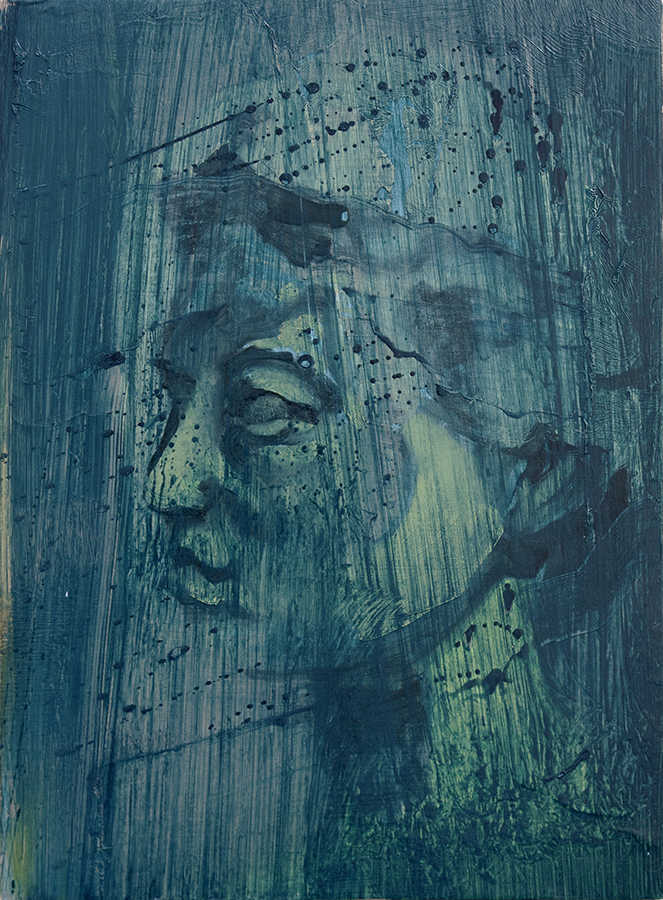 stream face III, bartosz beda, paintings 2015