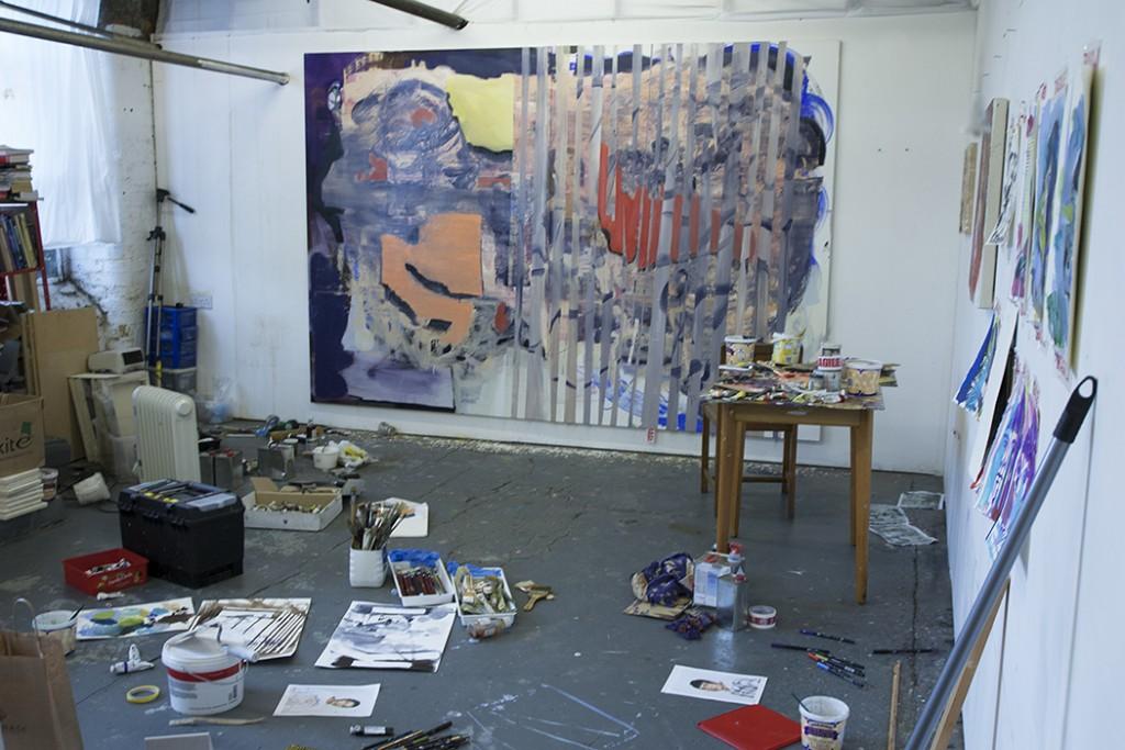 Bartosz Beda, studio view, artist studio