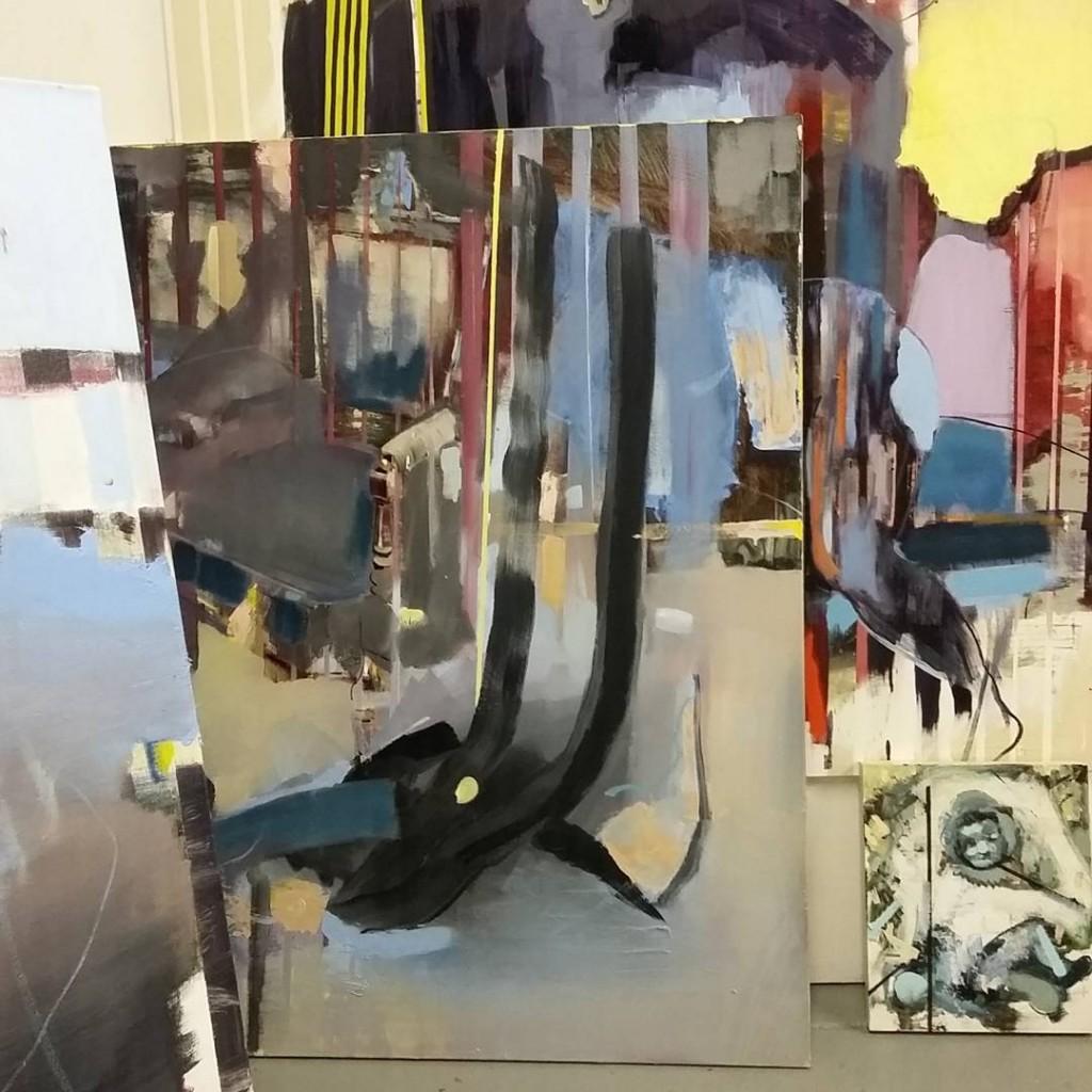 bartosz beda, studio, artist, painting, artist studio