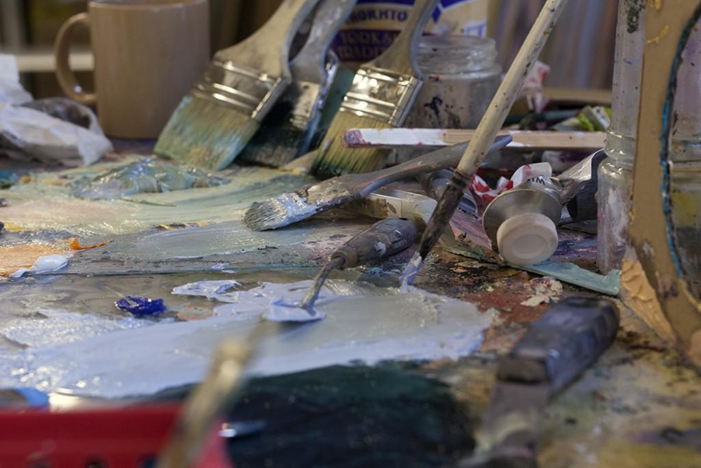 bartosz beda, daily studio updates, palet, artist studio
